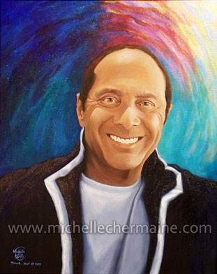 Paul Anka portrait by Michelle Chermaine Ramos