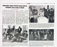 Michelle Chermaine Ramos in Taliba News with Ambassador Leslie Gatan during his portrait session