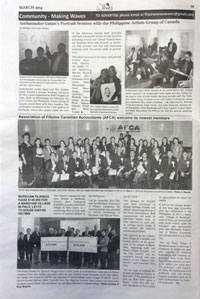Michelle Chermaine in Waves News  for the portrait sketching session with Philippine Ambassador Leslie Gatan