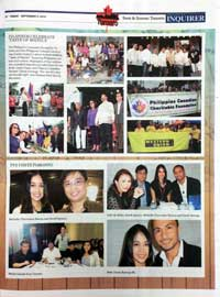 Michelle Chermaine in the Philippine Canadian Inquirer with TV5 stars Derek Ramsay, Gelli De Belen and Arnell Ignacio
